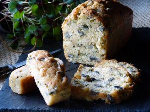 Recette Cake au chevre, citron confit & graines de courge