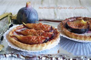 Recette Tartelettes aux figues et crème pâtissiere aux amandes