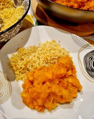 Recette Curry de poulet au butternut, potimarron et patate douce