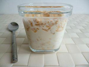 Recette Yaourts maison aux cubes de pommes et aux flocons d'avoine (sans sucre)