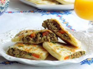 Recette Crêpes turques, Gözleme a la viande hachée