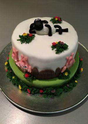 Recette Gâteau d'anniversaire Shaun, le mouton #1
