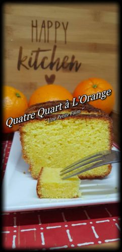 Recette Quatre Quart à L'Orange