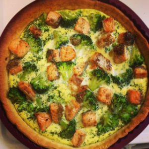 Recette Quiche au saumon et brocoli