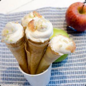 Recette Cornets aux pommes et ricotta