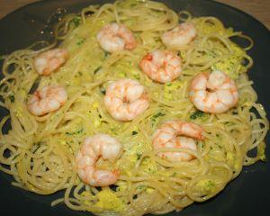 Recette Frittata di spaghetti e scampi