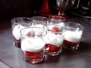 Recette Verrines fraises mousse mascarpone