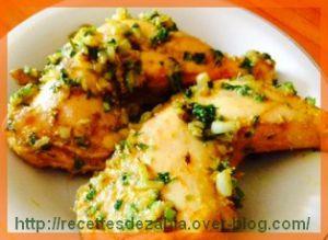 Recette Cuisses de poulet au persil