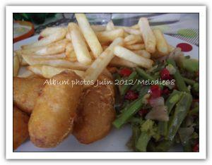 Recette Plat du jour : Nuggets de poulet/poêlée de légumes/frites