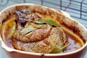 Recette Rouelle de porc sauce moutarde