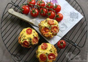 Recette Frittata à la féta, tomates cerises et basilic