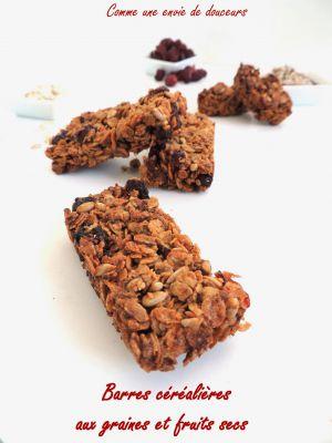 Recette Barres de céréales - Cereal bars