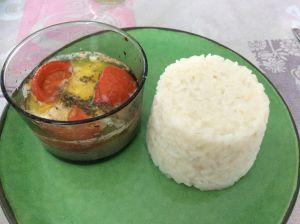 Recette Filets de colin au riz