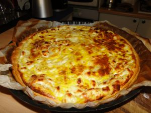 Recette Feuilleté au fromage frais et oignons