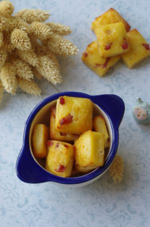 Recette Bouchées aux lardons, gruyère et parmesan