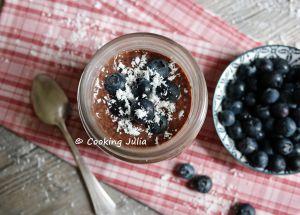 Recette Chia pudding cacao-myrtilles
