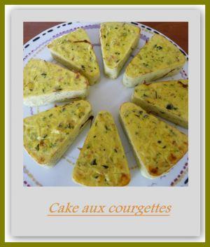 Recette Cake aux courgettes