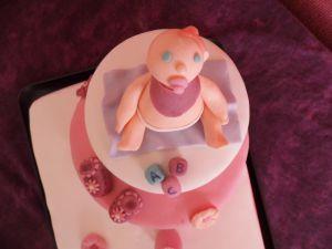 Recette Gâteau en pâte à sucre pour une naissance