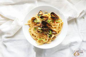 Recette Spaghettis aux moules