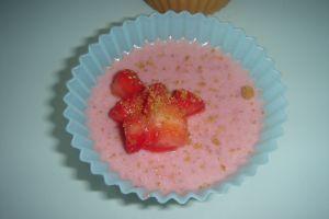 Recette Dessert aux fraises-lait de coco Des fraises