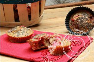 Recette Muffins moelleux aux fraises et graines de chia, sans gluten et sans lactose
