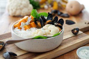 Recette Poke bowl aux Moules de bouchot de la Baie du Mont-Saint-Michel