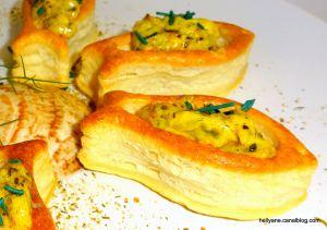 Recette Mini poissons feuilletés aux moules sauce exotique