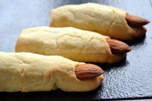 Recette Biscuits doigts de sorciere momifies pour halloween