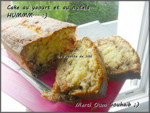 Recette Cake à la nutella