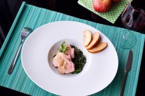 Recette Filet mignon de porc aux pommes et au cidre