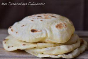 Recette Pain pita à la poêle (pain libanais)