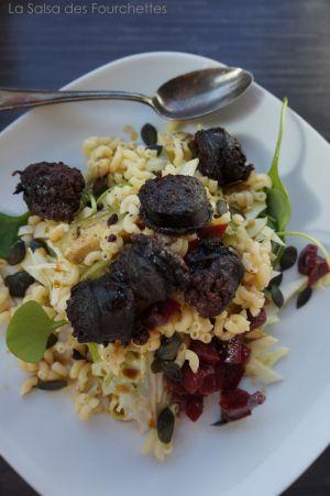 Recette BOUDIN Noir Grillé en Salade