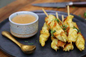 Recette Brochettes poulet thai - Hervé Cuisine
