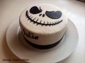 Recette Gâteau pâte à sucre Jack Skellington