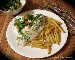 Recette Filets de poisson blanc, sauce au beurre de coriandre +