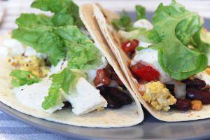 Recette Breakfast burritos végétariens