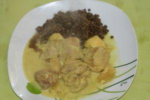 Recette Curry de rouelle de porc aux lentilles