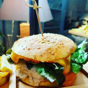 Recette Rabbit burger, sauce moutarde au st moret