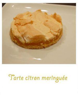 Recette Tarte citron meringuée facile