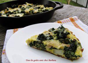 Recette Frittata au kale, poulet et pommes de terre