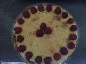 Recette Tarte crème brulée framboise