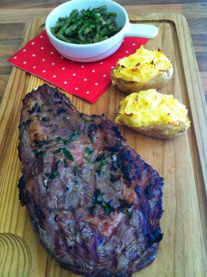 Recette Cote de boeuf au barbecue et patates au four