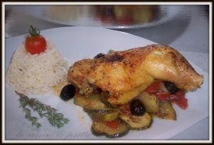Recette Cuisses de poulet aux légumes du soleil