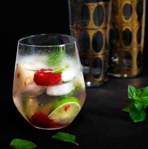Recette Cocktail au sureau-gin-menthe et citron vert