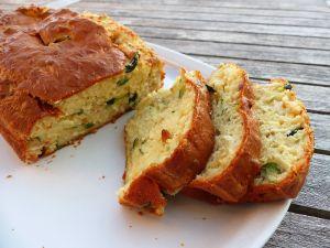 Recette Cake à la courgette et au fromage de chèvre