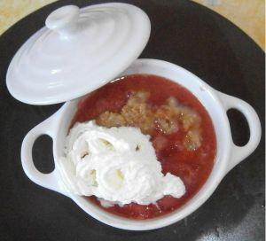 Recette Crumble de fraises