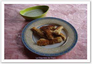 Recette Nuggets de poulet, sauce roquefort