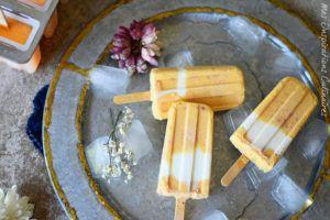 Recette Popsicle aux pêches et yaourt