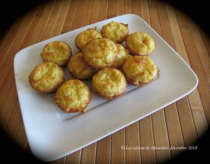 Recette Mini-quiches sans croûte au poireau et au cheddar +