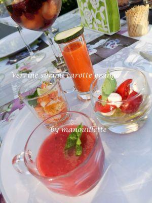 Recette Verrine de surimi, carottes mandarines